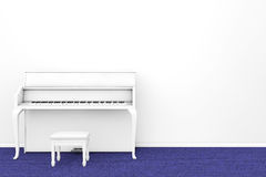 White Piano with chair Royalty Free Stock Image