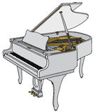 White piano Stock Photography