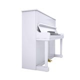 White piano Royalty Free Stock Photo