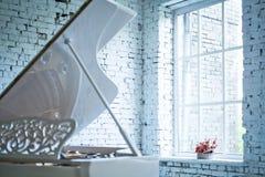 White piano Royalty Free Stock Image