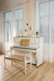 White piano Stock Images