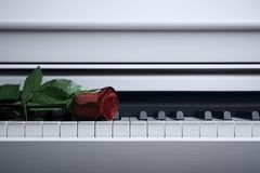 White piano Royalty Free Stock Images