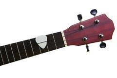 White pick with ukulele fingerboard, isolated on Stock Images