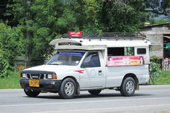 White Pick up truck taxi chiangmai Royalty Free Stock Photo