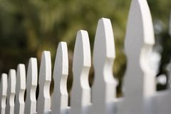 White picket fence. White picket fence in North Carolina Stock Image