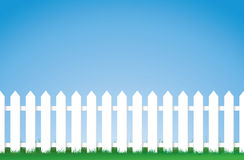 White picket fence vector illustration
