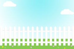 Free White Picket Fence Royalty Free Stock Images - 24173809