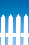 White Picket Fence Background Royalty Free Stock Photography