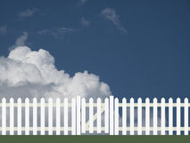 White picket fence Stock Image