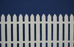 White picket fence paper cut out Stock Photo