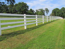 White picket fence Royalty Free Stock Image