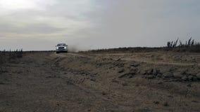 White pickup truck desert stock video