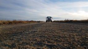 White pickup truck desert stock footage