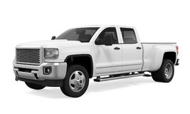 White Pickup Truck Isolated Royalty Free Stock Photos