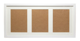White Picture Frame Stock Image