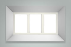 White picture frame on gray wall vector illustration