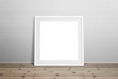 White picture frame mockup Stock Images