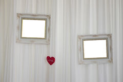 White picture frame in wedding day Stock Photos