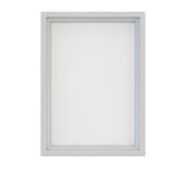 White Picture Frame. White wood frame with empty canvas, isolated Stock Photo