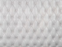 White picture of genuine leather upholstery Stock Images