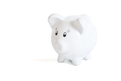 White piggy bank Royalty Free Stock Image