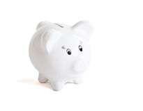 White Piggy Bank Stock Image