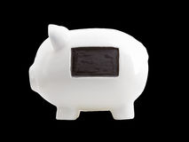White Piggy Bank With  Message Space Stock Image
