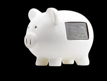 White Piggy Bank With  Message Space Stock Photography