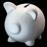 White Piggy Bank Studio Shot Royalty Free Stock Photography