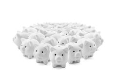 White piggy banks Royalty Free Stock Images