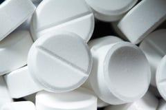 White pill close up shot Stock Photos