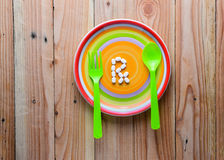 White pill on dish (concept for overeating medicine ) Royalty Free Stock Photography
