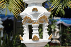 White pillar decoration Royalty Free Stock Photography