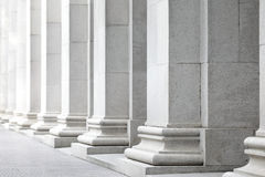 White pillar Stock Images