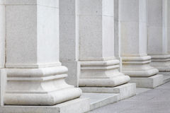 White pillar Royalty Free Stock Photos