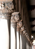 White pillars. Of an antic roman building Royalty Free Stock Photos