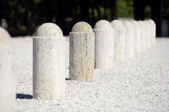 White pillars. With limied focus Royalty Free Stock Photo