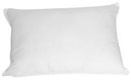 White pillow. Feather pillow isolated over white background Stock Photos
