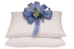 White pillow. Royalty Free Stock Photos