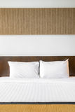 White pillow bedroom Royalty Free Stock Photos