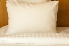 White pillow and blanket Royalty Free Stock Image