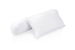 White pillow and bolster royalty free stock photos