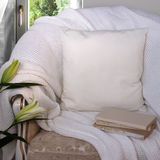 White pillow case Mockup. Stock Photo