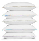 White pillow. Isolated Royalty Free Stock Photos