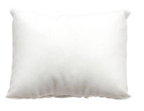 White pillow. Isolated Royalty Free Stock Images