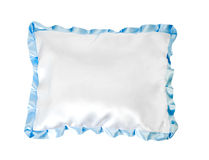 White pillow with a pink frill Royalty Free Stock Image