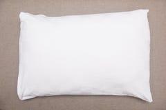 White pillow on sofa royalty free stock image