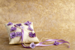 White pillow for wedding rings Stock Image