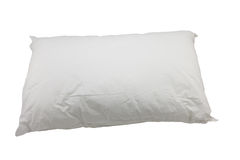 White pillow on white background Stock Photo
