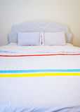 White pillows on a bed Stock Photo